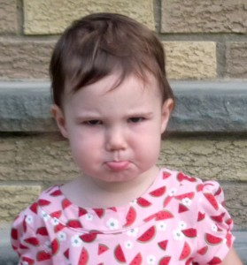 pouty toddler