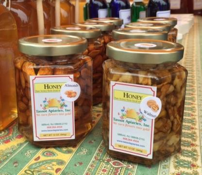miel con nueces